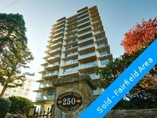 James Bay Condominium for sale: Bickerton Court 2 bedroom Granite Countertop, Tile Backsplash, European Appliance, Rain Shower, Glass Shower, Marble Counters, Hardwood Floors